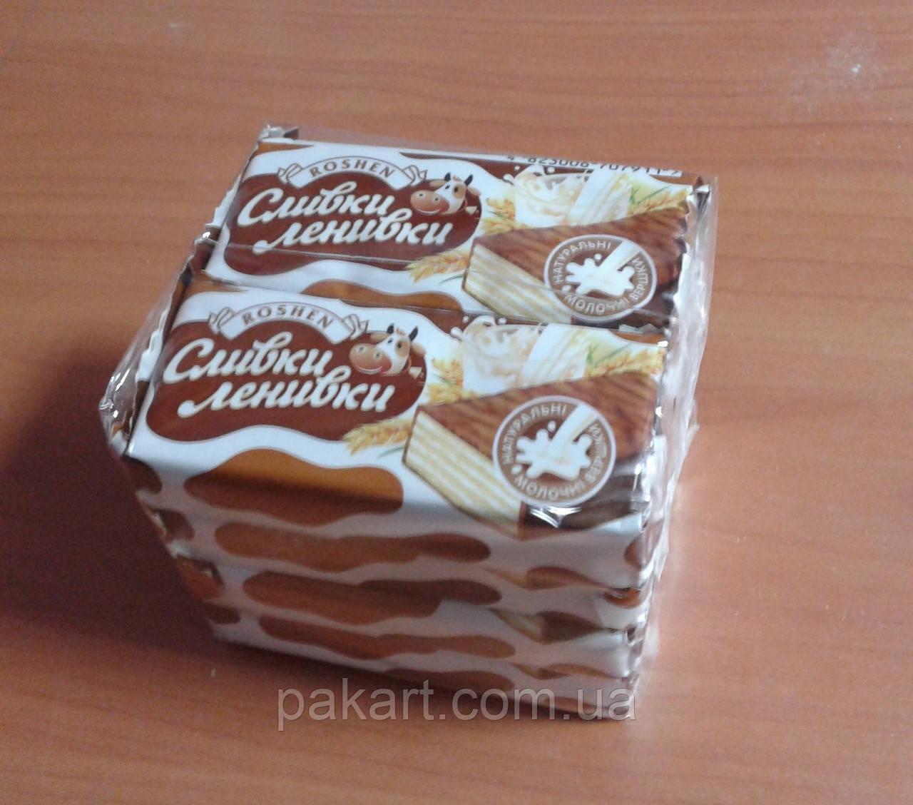 Упаковка конфет в полипропиленовую пленку