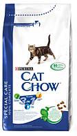 Cat Chow Feline 3in1 15 кг Сухой ком для взрослых кошек тройная формула