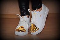 Криперсы белые золотой носок код 1858