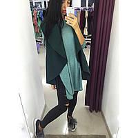 Модная зеленая  кашемировая жилетка. Арт-9752/12