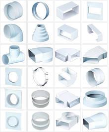 Пластиковий повітропровід та фурнітура