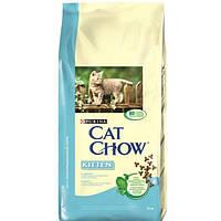 Cat Chow Kitten 15 кг Сухой корм для котят с курицей
