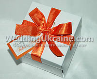 Упаковка для каравая или торта свадебного белая