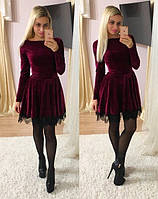 Женское платье с кружевом 8859