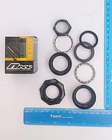 """Рулевой набор черный NECO 1"""" на резьбовую вилку №805"""