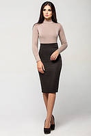Офисная черная юбка Карандаш  Leo Pride 42-46 размеры