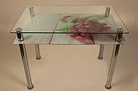 Стол стеклянные кухонный, стол обеденный, фото 1