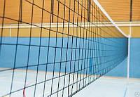 Cетка волейбольная с тросом мягкая веревка  9,5х1,0 м