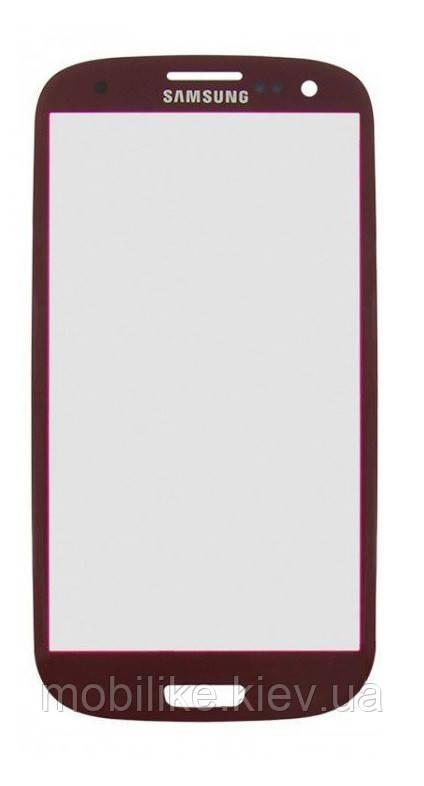 Скло сенсорного екрану Samsung Galaxy S3 (i9300) червоне