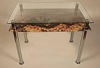 Стол стеклянные кухонный, стол обеденный