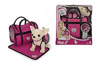 Собачка Чихуахуа Chi Chi Love Розовая мечта с сумочкой и ковриком (5899700)***, фото 1