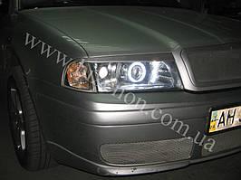 Установка биксеноновых линз G5 с глазами на Skoda Octavia tour