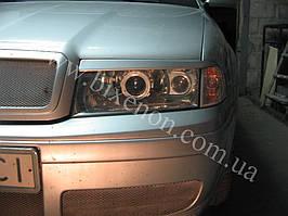 Установка биксеноновых линз G5 с глазами на Skoda Octavia tour 3