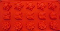 Форма силикон для конфет Весенние цветы мини