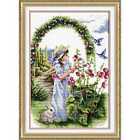 Цветочный сад. Набор для вышивания нитками