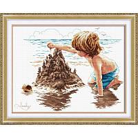 Замок из песка. Набор для вышивания нитками