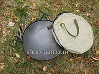 Сковорода бороны с крышкой и чехлом для пикника, из диска для костра