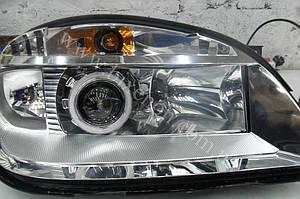 Установка биксеноновых линз G5 с глазами на Chevrolet Niva