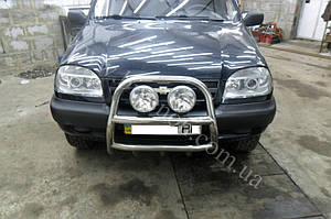 Установка биксеноновых линз G5 с глазами на Chevrolet Niva 6