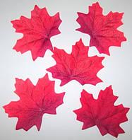 Лист клена искусственный, красный