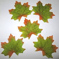 Лист клена искусственный, зеленый