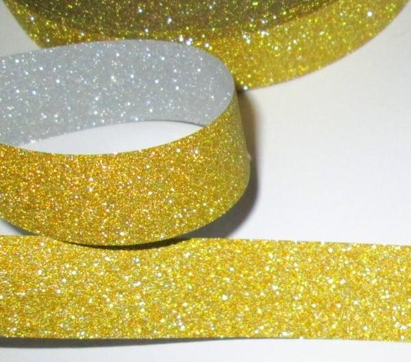 Лента двухсторонняя 1 м, золото/серебро