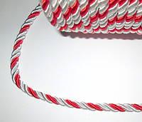 Канат декоративный 5 мм, красно-белый