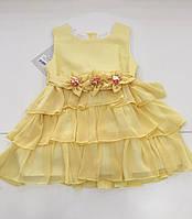 Детское летнее нарядное платье для девочки на 2 - 4 лет
