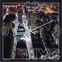 Часы настенные из стекла - Нью Йорк (немецкий механизм)