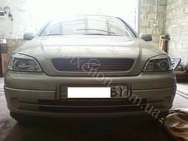 Установка биксеноновых линз G5 на Opel Astra -1