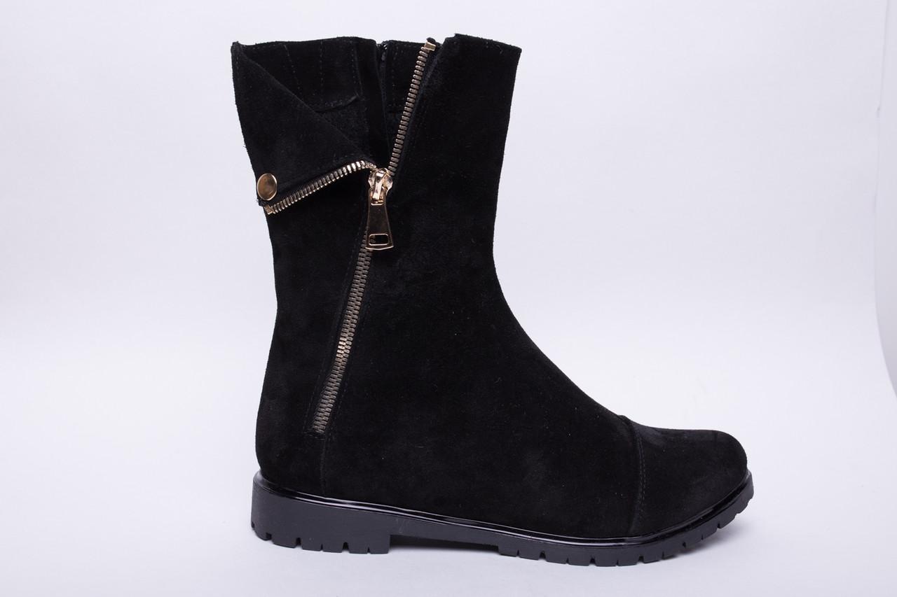 Ботинки №108-2 черный замш