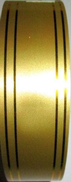 Стрічка поліпропіленова 46 м*3 см, золото