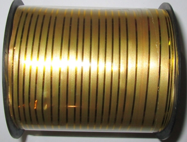 Лента полипропиленовая 100 м*1 см, золото