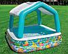Бассейн детский надувной c навесом Intex 157х157х122 см (57470) - Фото