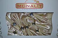 Скатерть Monalit на 8 персон с кольцами 160х220см. Турция mon-12