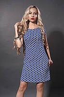 Платье мод. 277-3,размер 44,46 синий крест