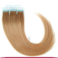 Натуральные славянские  волосы на лентах 45-50 см 100 грамм, Омбре №06-18