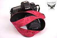 Ремешок для фотоаппарата красные якорьки, фото 1