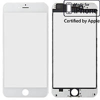 Защитное стекло корпуса для iPhone 6 Plus, с рамкой, с OCA-пленкой, белое, оригинал