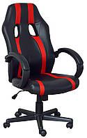 Кресло Спорт Драйв красные вставки Richman