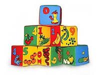 Набор мягких кубиков Умная игрушка Цифры 6 шт. (BOC052445)