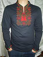 """Рубашка мужская с вышивкой """"Куб""""-26 (5)"""