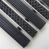 Алюминиевый коврик 600х400 мм на вход щетка+резина