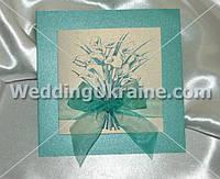 Свадебные приглашения c бантиком из органзы