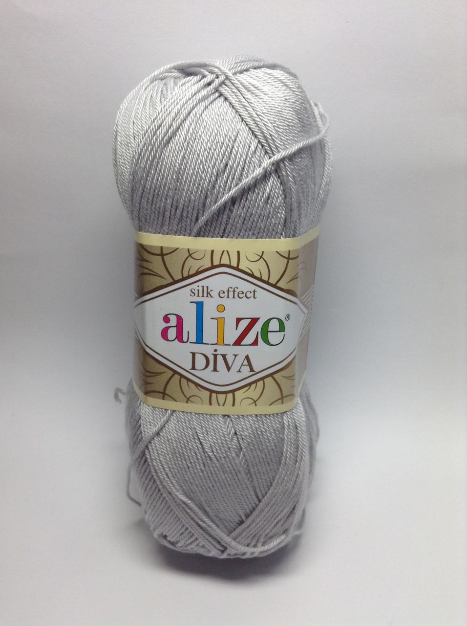 Пряжа diva - цвет серый