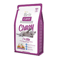 Brit Care (Брит Кеа) CRAZY Kitten 2кг - гипоаллергенный корм для котят (курица/рис)