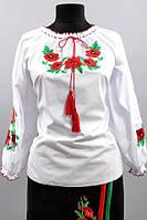 Вышитая рубашка женская с маками, фото 1