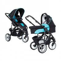 Универсальная коляска 2 в 1 ABC Design Cobra Turquoise-black черный с голубым 3882/212