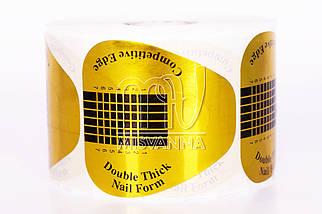 Формы для наращивания ногтей золотые, 500 шт. квадрат
