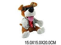 Музыкальная интерактивная игрушка Собачка-повторюха cl1506b на батарейках 15х15х20 см